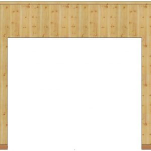 panneau bois porte de garage